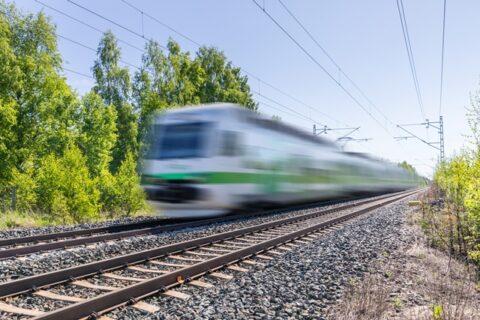 Junaliikennettä kesällä