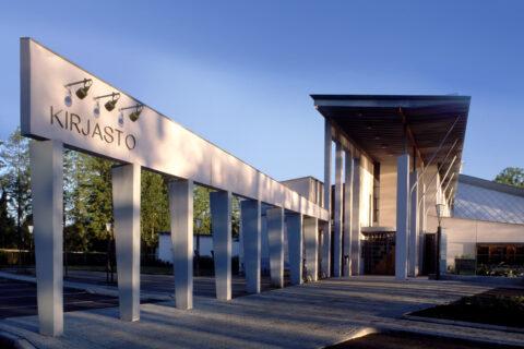 Kuhmon kirjasto. Kuva Pekka Agarth