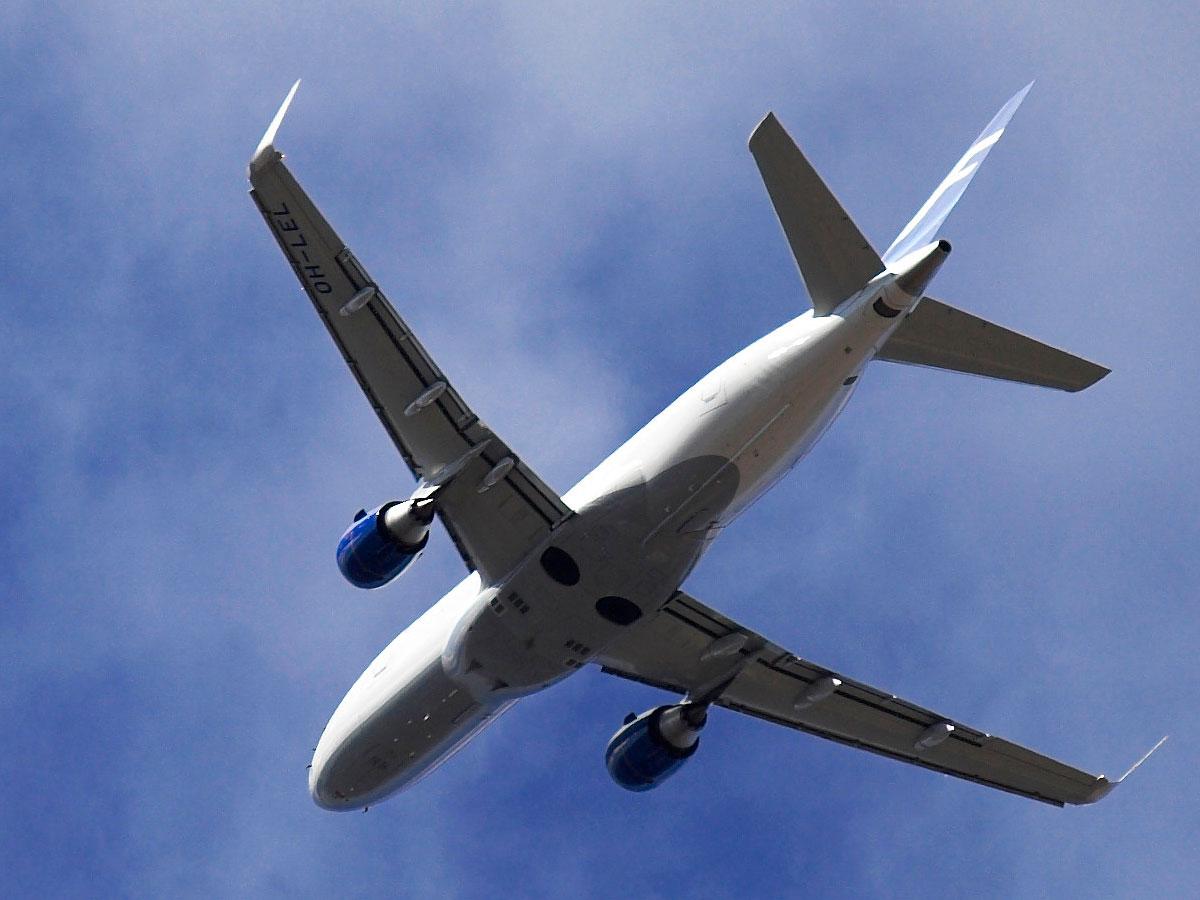 Finnairin lentokone taivaalla